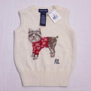 Ralph Lauren Dog Sweater Sz 3/3T
